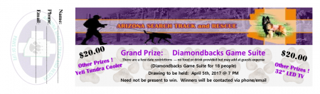 AZ STaR Diamonback Suite Raffle Ticket